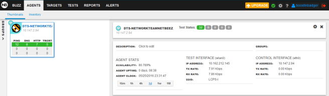 NetBeez agent connection info